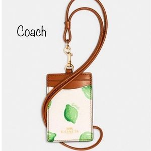 Coach ID lanyard holder Lime